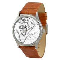 Vintage Map Watch (Africa) in B/W