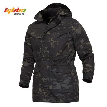 Trendy Camouflage Military Field Jacket Men M65 US Army Casual Hoodie Tactical Jacket Autumn Waterproof Windbreaker Flight Pilot Coats AT_94_13