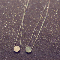 Womens Cute Small Crystal Ball Pendant Necklace Gift-96