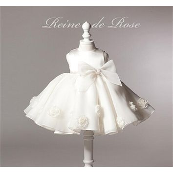 2017 Flower Girl Baby Baptism Dresses Infant Party Dress For Girls 1st Birthday Outfits Newborn Baby Frocks Designs Kids Clothes