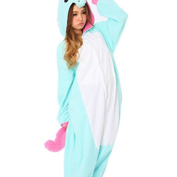 DAYAN New Pajamas Anime Costume Adult Animal Onesuit Unicorn Cosplay