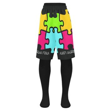 Autism Design 9 Men's Swim Trunk