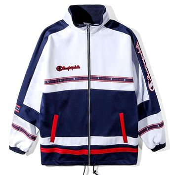 Champion Woman Men Fashion Embroidery Cardigan Jacket Coat