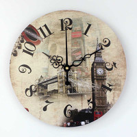 Brand London Big Ben 3d wall decor watch with absolutely silent 12888 clock movement Europe style home decor wall clock gift