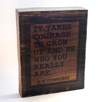 Photo Block EE Cummings Quote 8x10 Wood Block Photo by ByTheSeals