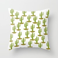 Cactus design, vector Throw Pillow by Claude Gariepy