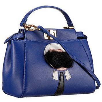 Fendi Peekaboo Karlito Capsule Detail Blue Bag