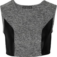 Live The Process - Cropped stretch-jersey top