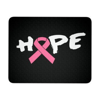 Breast Cancer Mouse Pad - Pink Ribbon Hope