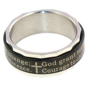 Serenity Prayer Spinning Ring