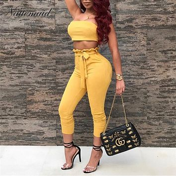 NATTEMAID Autumn Women suede Rompers Jumpsuit women Sleeveless Suede Two Pieces Outfits Overalls Sexy Club Playsuit jumpsuits