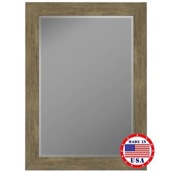 Hitchcock Butterfield Weathered Sand Barn Siding Grande Framed Wall Mirror