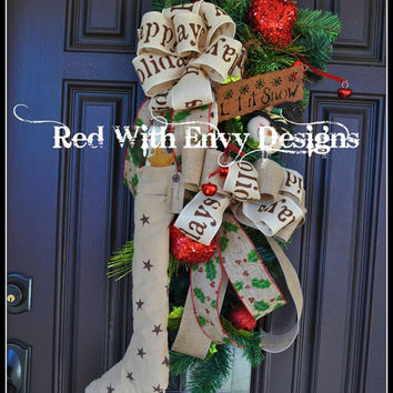 Traditional Christmas Swag, Christmas Swag, Wreath, Holiday Wreath, Christmas Wreath, Christmas, Wreath