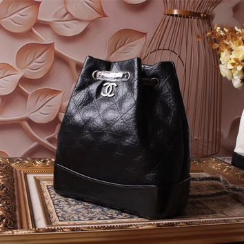 CHANEL WOMEN'S LEATHER GABRIELLE BACKPACK BAG