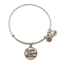 Alex and Ani If It's Meant To Be Charm Bangle - Russian Silver