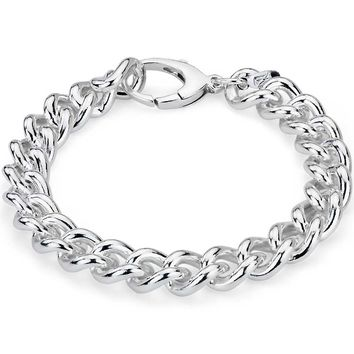 Curb Chain Bracelet in Sterling Silver | Blue Nile