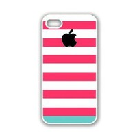 Amazon.com: iPhone 5 Case White ThinShell Case Protective iPhone 5 Case Pink Blue Stripes: Cell Phones & Accessories