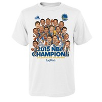 adidas Golden State Warriors 2015 NBA Champions Caricature Celebration Tee - Boys 8-20, Size: