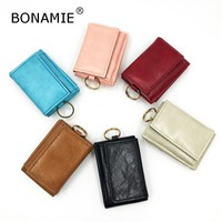 BONAMIE Bank Credit Card Holder Foldable Creative Women Cash Holder Unique Keychain  Coin Purse Men Wallet RFID  Patent Pending