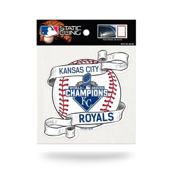 MLB Kansas City Royals 2015 World Series Champs Static Cling Window Car Decal