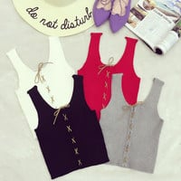 Summer Style Sexy Crop Top Cropped Vintage Tops Tank Bustier Tanks Sleeveless Vest  Women's Shirt elasticity Camisole Cami