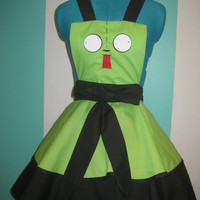 Gir Invader Zim Inspired Cosplay Apron Pinafore