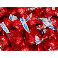 Hershey's Kisses Red Foiled Milk Chocolate Candy: 4LB Bag