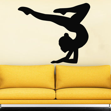 Gymnasts Wall Decal Sports Athletes Girl Sport Gymnastics Nursery Decor C493