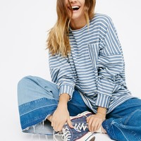 Free People Zuma Pullover Blue