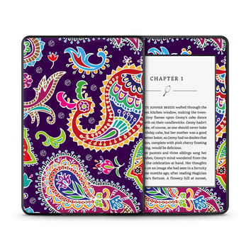 Multicolored Purple Paisley Background Skin for the Amazon Kindle Tablet