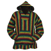 Rasta Pullover Baja Hoodie on Sale for $19.95 at HippieShop.com