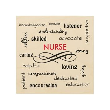Nurse Gift - Words of the Job Wood Wall Art