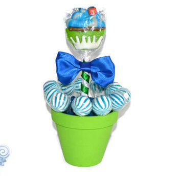 Blue Green Cupcake Lollipop Centerpiece, Candy Centerpiece, Cupcake Centerpiece, Baby Shower, Its a Boy, Centerpiece, Edible Centerpiece