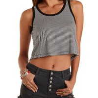 Striped & Cropped Tank Top by Charlotte Russe