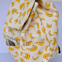 New ! New Zealand quality canvas banana (with free banana  storage pouch)  - with additional pockets on the outer front