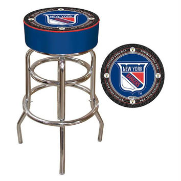 NHL Throwback New York Rangers Padded Bar Stool