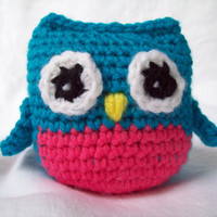 Crochet Little Owl Stuffed Toy, Stuffed Animal, Amigurumi Owl, Childrens Toy
