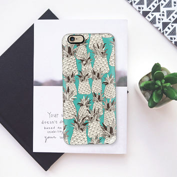 pineapple turquoise sea iPhone 6s case by Sharon Turner | Casetify