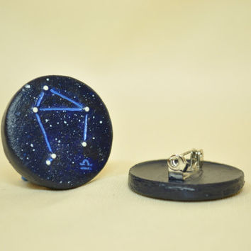 Libra Pinback Button, GLOW in the DARK, Constellations, Zodiac Pin, Horoscope, Astrology, Astronomy, Sept 23rd - Oct 22nd, The Scales