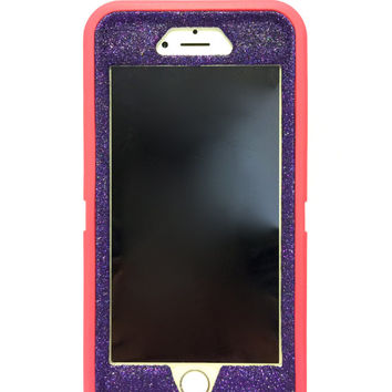 iPhone 6 Plus OtterBox Defender Series Case Glitter Cute Sparkly Bling Defender Series Custom Case Pink / purple