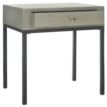 Adena End Table With Storage Drawer French Grey