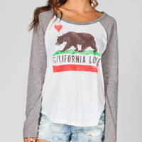 BILLABONG Flower Bear Womens Raglan Tee