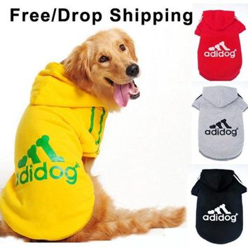 DCCKIX3 Dog clothes for dogs Large size winter autumn coat Big dogs Hoodie apparel 100% Cotton Provide 3XL- 9XL Free drop shipping D25