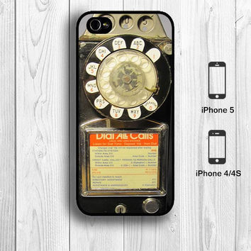 Retro Dial Call Telephone iPhone 4 Case, Vintage telephone iPhone 4S Case Old school iPhone 5 Back Cover --000106