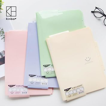 A4 Plastic File Folder Smile Eomji Clear Book Document Folder Display Book Office School Data Folder articulos de oficina