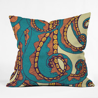 Arcturus Octopus Throw Pillow
