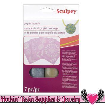 SCULPEY SILKSCREEN KIT for Polymer Clay