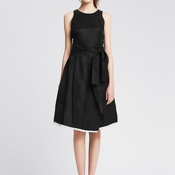 Banana Republic Womens Belted Fit And Flare Dress
