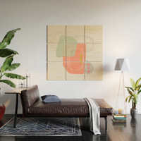 Modern minimal forms 49 Wood Wall Art by naturalcolors