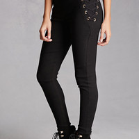 High-Waist Lace-Up Pants